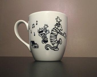 Calvin and Hobbes Mug - Dancing