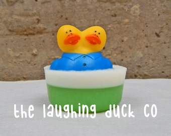 Rubber Ducky Soap 3oz / Root Beer Float / Carnival, Circus, Clown, Sideshow, Rubber Duck, Rubber Duckies, Bath Time, Gift Idea, Baby Shower