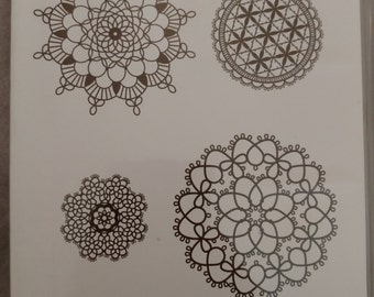 Stampin Up Stamp Set Delicate Doilies Set of 4