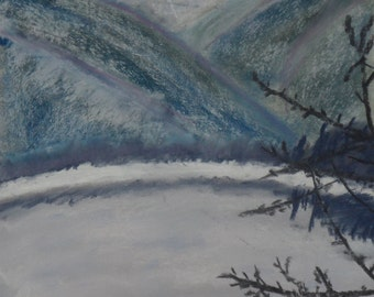 Mountain Winter in pastel