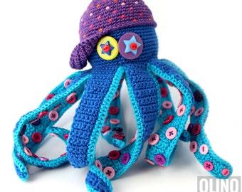 OCTOPUS Crochet Pattern PDF - Crochet octopus pattern Amigurumi octopus pattern Sea creature pattern Crochet ocean toy Nautical toy patterns