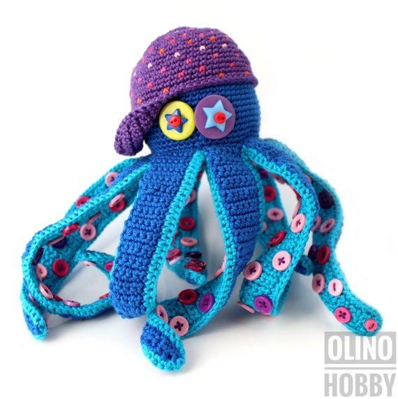 OCTOPUS Crochet Pattern PDF - Crochet octopus pattern Amigurumi octopus pattern Sea creature pattern Crochet ocean toy Nautical toy patterns