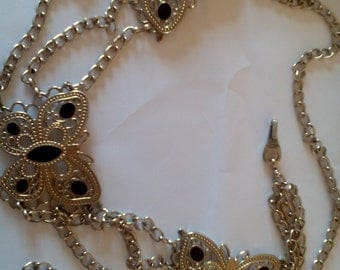 Vintage Chain Belt/Butterfly Chain Belt