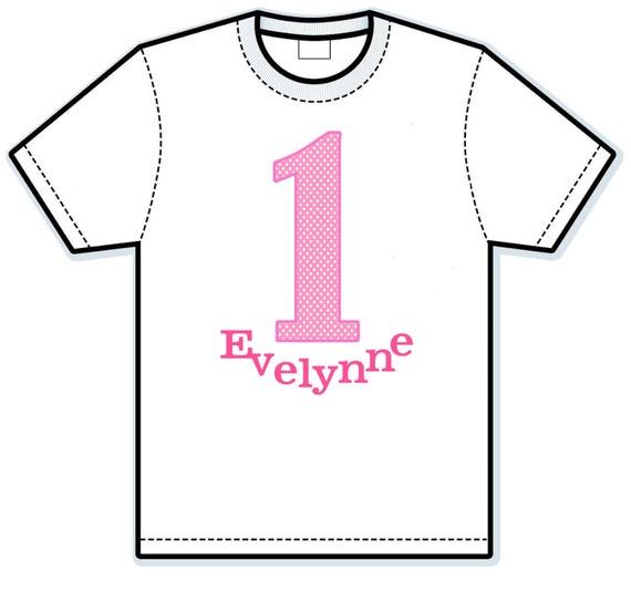 First Birthday Girl's Children's Hand Painted Shirts