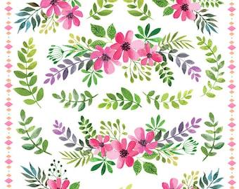 Julie's SurfaceTattoos Watercolor Flowers