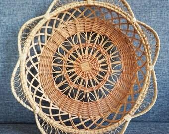 Trash - basket VINTAGE Wicker rattan