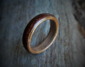 Extra Wide Custom Made Ring - Unisex Ring - Wood Ring - Rustic Wedding Ring - Promise Ring - Engagement Ring - Betrothal Ring - Couples Ring