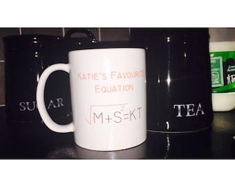 Personalised 'Perfect Equation' Mug