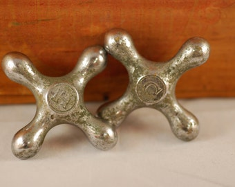 Hot and Cold Faucet Handle Set