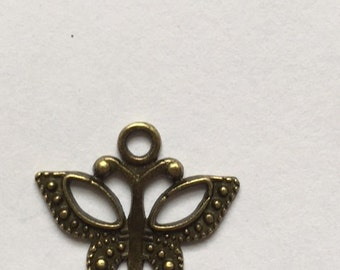 bronze Butterfly charm