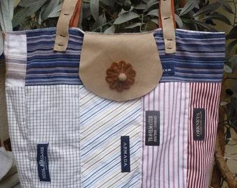Lightweight bag from men's shirts