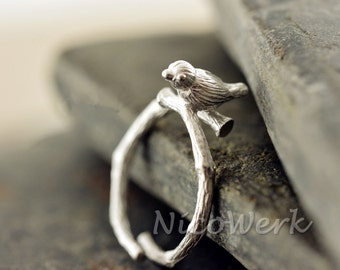 Silver ring bird ring Silver 925 adjustable ladies jewelry ladies rings 209