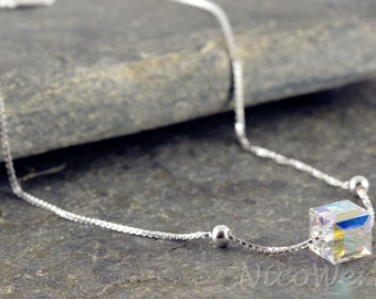 Silver anklets anklets 925 ladies jewelry gift SFK102