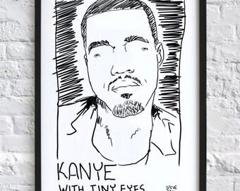 Pop Stars with Tiny Eyes - Kanye