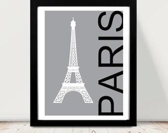 Printable art paris - Paris print - Paris - Eiffel tower - digital prints - nursery printable - instant download - modern print