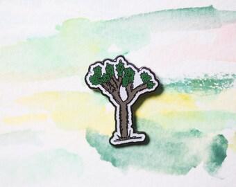 Lapel Pin California Joshua Tree Desert Enamel Badge West Coast Vibes Yucca Hobo Jewelry Wanderlust Style