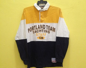 Portland Team Yachting Staff Polo Long Sleeve Shirt  Size Medium M
