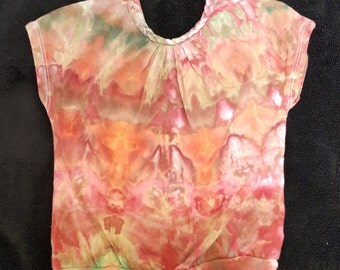 Ice Dye, Tie Dye, One Of A Kind, Size 24 Carter's kids ice dyed shirt