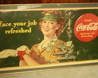 1943 Coca Cola Advertising Sign