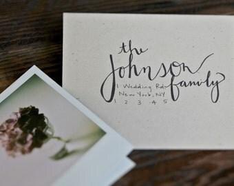 "Custom Handwritten Calligraphy Envelopes, Wedding Invitation Calligraphy, Handwritten Addresses in ""Calli"" Font"