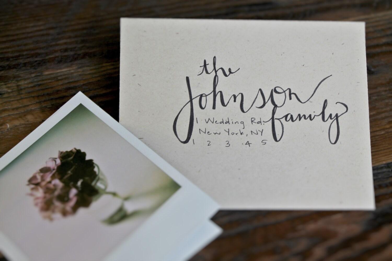 Custom Handwritten Calligraphy Envelopes Wedding Invitation