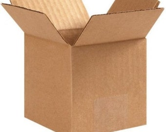 6x4x4 Corrugated Cardboard Shipping Boxes