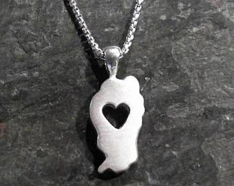 Falling in Love w/ Tahoe Sterling Silver Pendant (small size)
