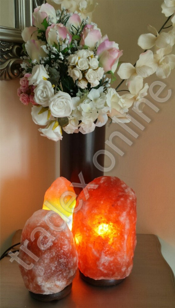 2x Himalayan Pink Rock Crystal Salt Lamp 1-2 kg Natural Healing Ionizing Lamps - Introductory Limited Time Offer