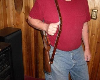 Adjustable Rifle Sling in Dark Brown or Black