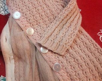 50's Ladies Knit, Lined Cardigan. Size Med.