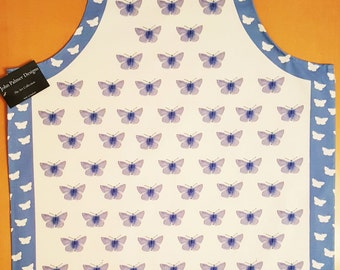 Common blue butterfly design apron , butterfly kitchenware, butterfly textiles, oven gloves, kitchen, cooking, baking, food,