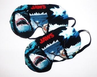 Sleep Mask -  Jaws - Comes as Shown - Handmade - Fits Kids to Adults