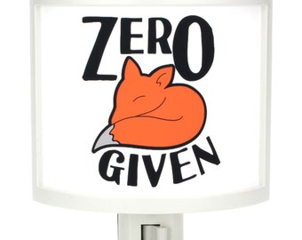 Zero Fox Given none NO zed Night Light Cute Nursery Bathroom hallway Bedroom GET IT nightlight Nite Lite