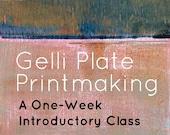 Gelli Plate Printmaking Online Class