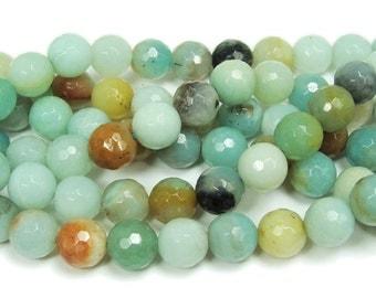 Amazonite Faceted Gemstone Beads
