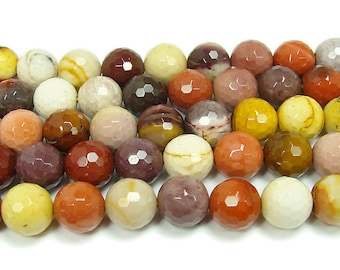 Mookaite Faceted Gemstone Beads