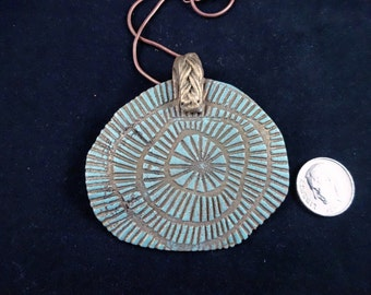 Bronze pmc clay Pendant Necklace with chain