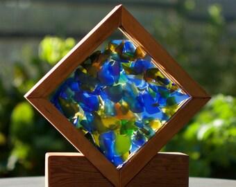 Suncatcher Freestanding Sea Glass Kaleidoscope Sun Catcher