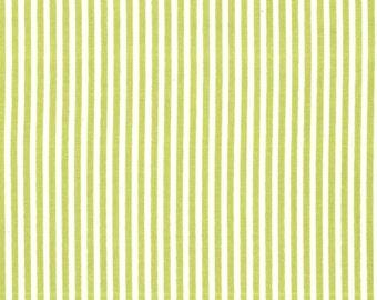 Fat quarter - Little Stripe in Kryptonite - Michael Miller cotton quilt fabric