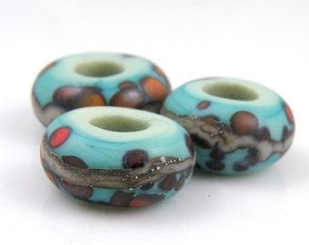 Avatar Handmade Artisan Lampwork SRA Big Hole Charm Bracelet Beads (Set of 3) SRA