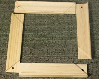 """Pine Wood Canvas Stretcher Frame Bars, 8"""" Long, Art Supplies, Painting, Set of Four Pieces, Destash"""