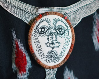 faith finder, handmade stitched necklace