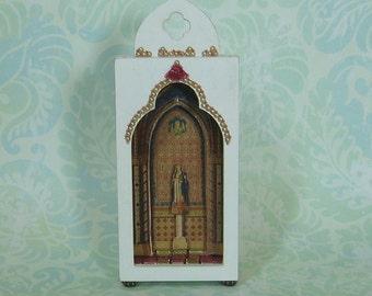 Miniature Elegant Our Lady Shrine/Shadow Box