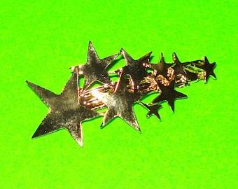 Shooting Stars Gold Star Cluster Hair Clip