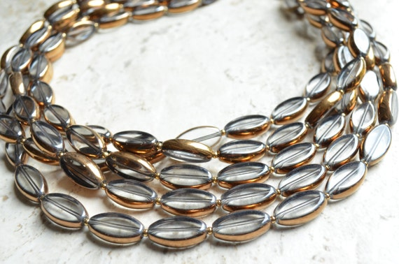 The Sophie- Clear and Gold Glass Statement Necklace