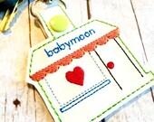 Personalized Etsy shop keyring - clip on keyring for shop owners  - etsy shop keyfob - bagcharm - planner charm