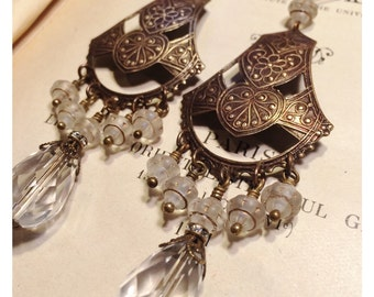 Lovely Karima Chandelier Earrings in Crystal