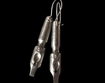 Antique Pen Nib Earrings