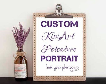 Custom DRAWING KiniArt Large Pet Portrait Art