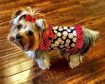 Baseball Shirt Custom Dog Dress XXS - Medium